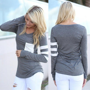 Casual Long Sleeve Pocket Pullover - J20Style - 4