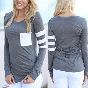Casual Long Sleeve Pocket Pullover - J20Style - 6