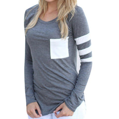 Casual Long Sleeve Pocket Pullover - J20Style - 1