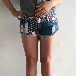 Casual American Flag Printed Shorts - J20Style - 3