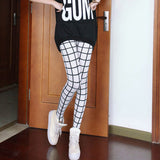High Elastic Vintage Plaid Leggings - J20Style - 1
