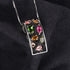 2ct Multicolor Genuine Tourmaline Black Pendant Necklace