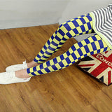 Korean Style Milk Grid Pencil Pants - J20Style - 3