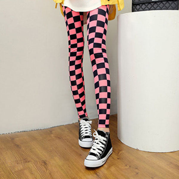 Korean Style Milk Grid Pencil Pants - J20Style - 1