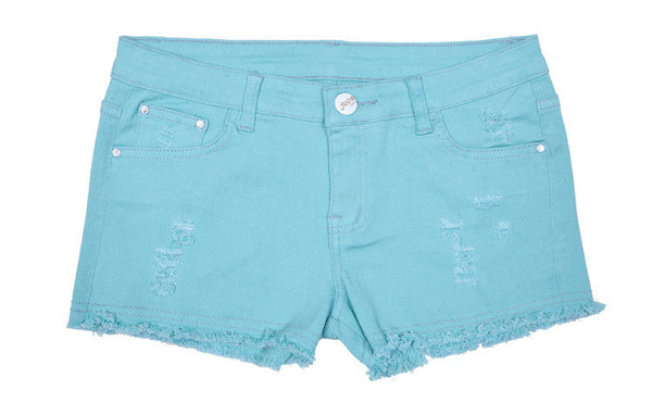 Denim Summer Candy Color Jeans Shorts - J20Style - 3