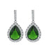 AAA Cubic Zirconia Drop Earrings with Tiny CZ