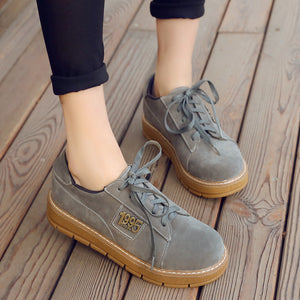 Lace Up Plus Size Casual Flat Shoes