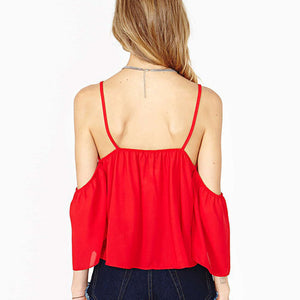 Summer Spaghetti Strap Backless Shirt - J20Style - 3