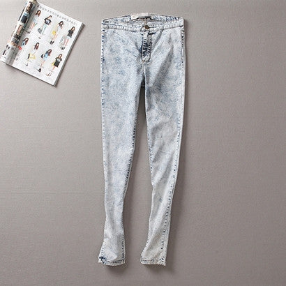 Denim Low Waist Women Skinny Jeans - J20Style - 2