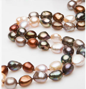 Luxury Style Baroque Pearl Long Sweater Necklace
