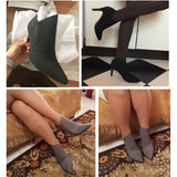 Genuine Leather Microfiber Pointed Toe Stiletto High Heel Boot