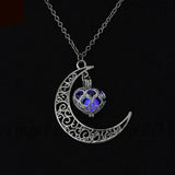 Moon Glowing Silver Plated Necklace