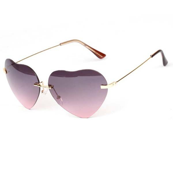Heart Shaped Metal Frame Sunglasses - J20Style - 4