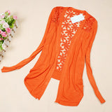 Long Sleeve Candy Color Floral Tops - J20Style - 10