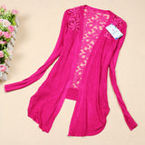 Long Sleeve Candy Color Floral Tops - J20Style - 3