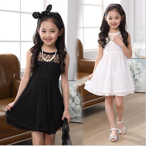 Summer Sleeveless Lace Dress for Kids - J20Style - 1