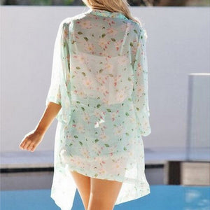Summer Floral Printed Chiffon Blouse - J20Style - 3