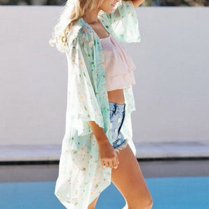 Summer Floral Printed Chiffon Blouse - J20Style - 4