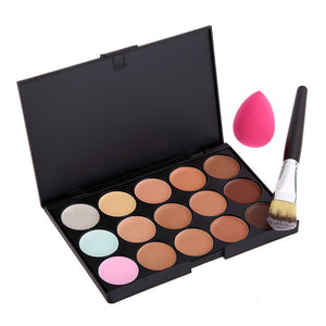 Pink Sponge Puff with Brush and Concealer Palette - J20Style - 6