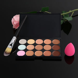 Pink Sponge Puff with Brush and Concealer Palette - J20Style - 5