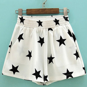 Casual Elastic Star Printed Shorts - J20Style - 2