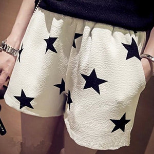 Casual Elastic Star Printed Shorts - J20Style - 1
