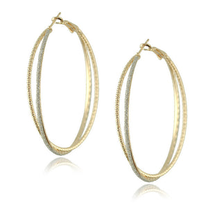 Gold Plated Big Hoop Earrings - J20Style - 3