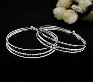 Gold Plated Big Hoop Earrings - J20Style - 13