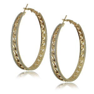 Gold Plated Big Hoop Earrings - J20Style - 18