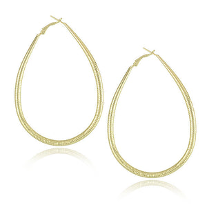 Gold Plated Big Hoop Earrings - J20Style - 8