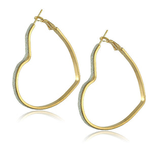 Gold Plated Big Hoop Earrings - J20Style - 16