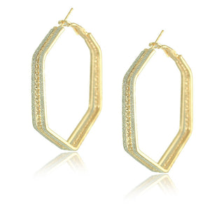 Gold Plated Big Hoop Earrings - J20Style - 20