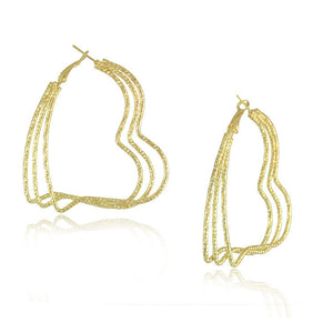 Gold Plated Big Hoop Earrings - J20Style - 19