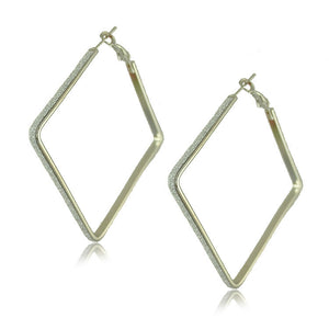 Gold Plated Big Hoop Earrings - J20Style - 5