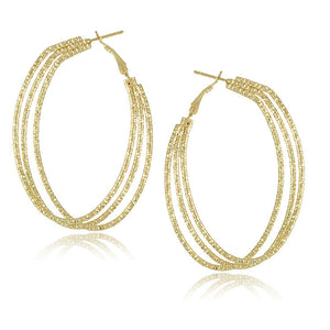Gold Plated Big Hoop Earrings - J20Style - 17