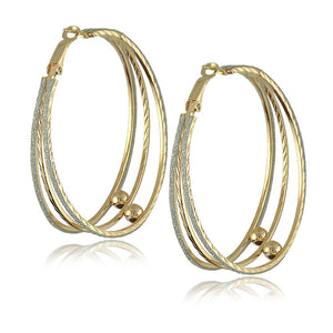 Gold Plated Big Hoop Earrings - J20Style - 10