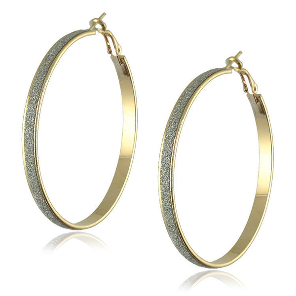 Gold Plated Big Hoop Earrings - J20Style - 6