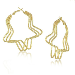 Gold Plated Big Hoop Earrings - J20Style - 2