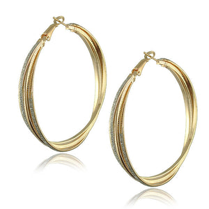 Gold Plated Big Hoop Earrings - J20Style - 14