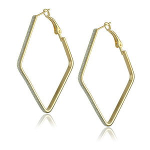 Gold Plated Big Hoop Earrings - J20Style - 7