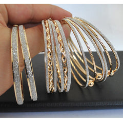 Gold Plated Big Hoop Earrings - J20Style - 1