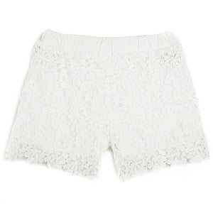 Casual Elastic Waist Lace Shorts - J20Style - 3