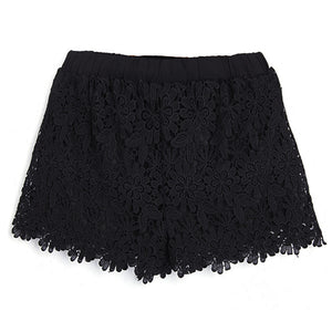Casual Elastic Waist Lace Shorts - J20Style - 5
