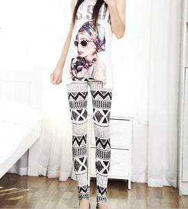 High Quality Punk Floral Legging - J20Style - 4