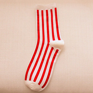 Autumn Beathable Vertical Stripes Socks - J20Style - 5