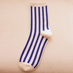 Autumn Beathable Vertical Stripes Socks - J20Style - 4