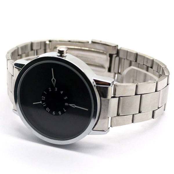 Men's Stainless Steel Turntable Wrist Watch - J20Style - 3