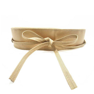 Soft Leather Self Tie Waist Band - J20Style - 4