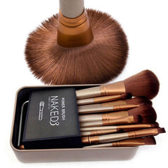 12 Pieces Professional Cosmetic Brushes Set - J20Style - 1