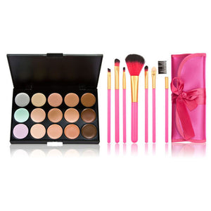 15 Color Make-Up Palette with 7 Powder Brush - J20Style - 2